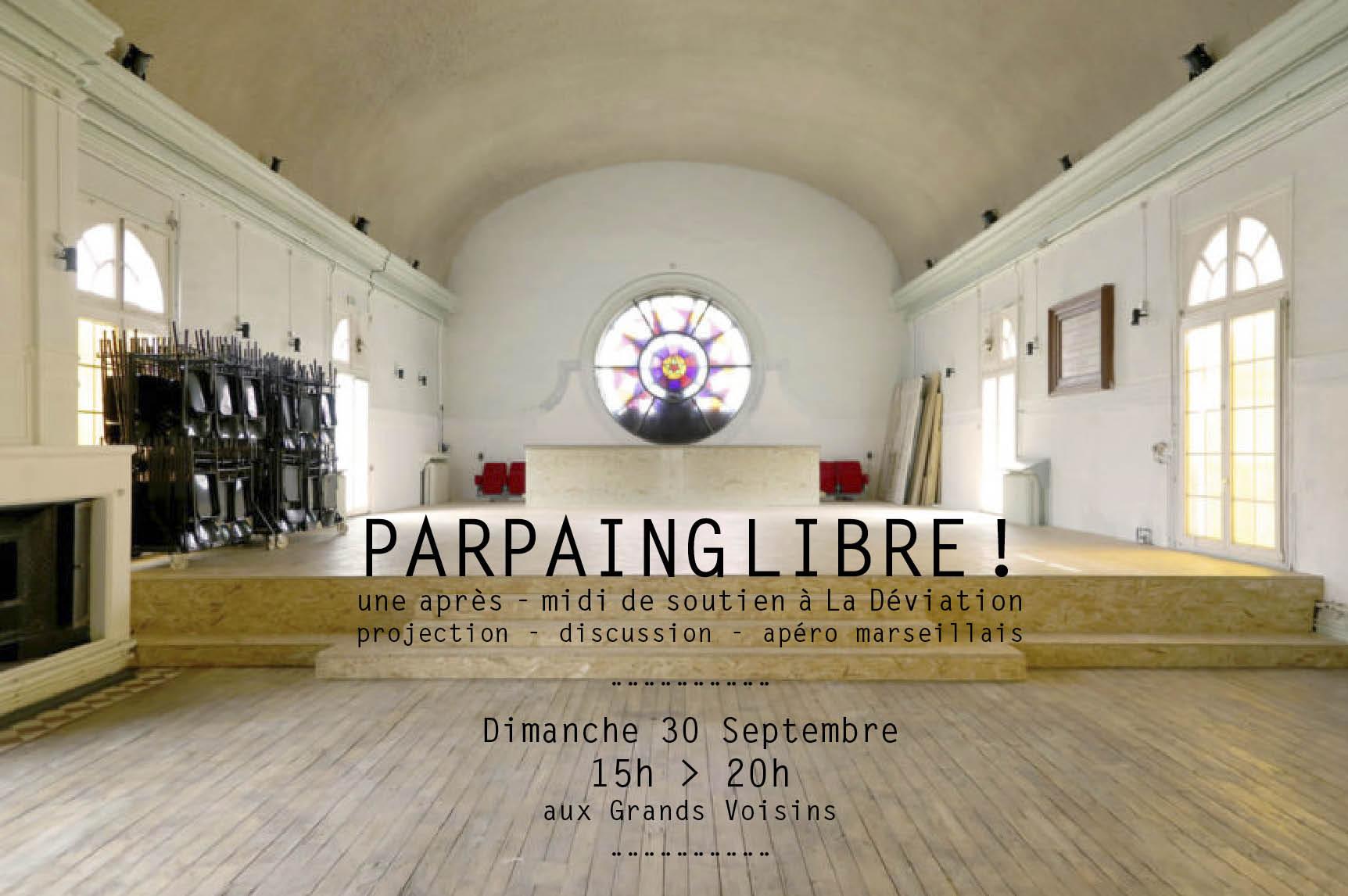 Parpaing libre ! Concert, projection et apéro marseillais ! Aux Grands Voisins à Paris !