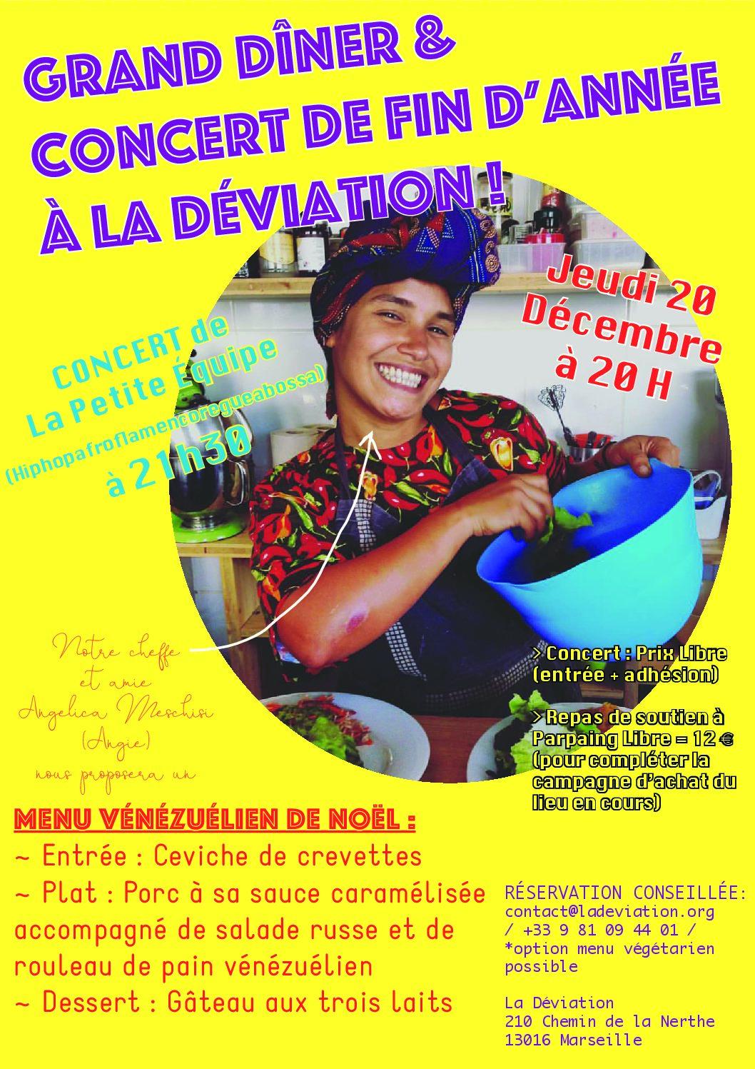 Soirée Dîner vénézuélien de Noël + Concert